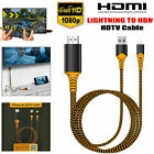 2M 1080P Lightning to Digital AV TV HDMI Cable Adapter For Apple iPad Air iPhone