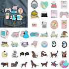 Acrylic Cat Animal Pin Brooch Colorful Lapel Shirts Backpack Badges Accessories