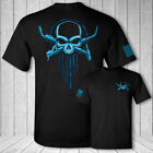 Welder skull crossbones t-shirt - welding skull USA flag black tee shirt - Pro H image