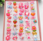 15/10 adjustable  Mixed design Cute Cartoon Children/Kids party Rings Jewelry uk