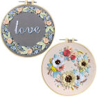 Flower Embroidery Starter Cross Stitch Kit Set Threads Diy Craft Home Decoration