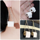 Funny Roll Toilet Paper 925 Silver Drop Earrings for Women Jewelry A Pair/set image