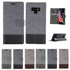 For OnePlus 7Pro 6T 6 Luxury Canvas Leather Magnetic Card Slot Wallet Case Cover