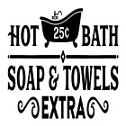 Hot Bath Soap & Towels Extra Vinyl Decal Sticker Bathroom Home Wall Decor Choice