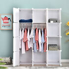 DIY Wardrobe Closet Armoire Storage Cube Organizer with Doors and Hanger Bedroom