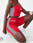 COCA-COLA GRAPHIC BIKER SHORTS & CROPPED CAMI TOP RED/WHITE 2 PIECE SIZE M BNWT $85.93  on eBay
