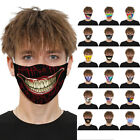 Mens Womens Kids 3d Mouth Mark Fabric Facemask Washable Party Magic Club Goth