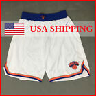 New York Knicks Vintage Basketball Shorts Pants Men's Short Stitched White Short on eBay