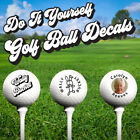 DO IT YOURSELF Personalised Golf Ball Decal System uses photo & text - 14 decals