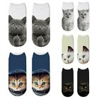 3D Socks Cute Cat Kitten Print Unisex Elastic Adults Socks Pair