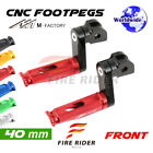 40mm Riser CNC Billet Front Footpegs For Triumph Tiger 955i 01-07 04 05 06 $40.25 USD on eBay
