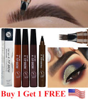 1Ps Microblading Eyebrow Pen Waterproof Fork Tip Tattoo Long Last Eyebrow Pencil