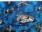 Star Wars Ships blue falcon X Tie FQ/Half metre 100% cotton fabric,free p&p,