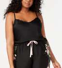 INC Plus-Size Scalloped Neckline Camisole Pajama Top Black 1X & Pink 2X  NWT