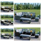 Modern 8 Seaters Rattan Corner Sofa Set Bench Garden Furniture Set