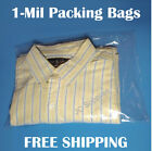 Clear 1-Mil Apparel Poly Plastic Bags Tshirt Clothing Open Top Shirt Baggies