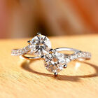 Elegant 925 Silver Rings for Women White Sapphire Rings Jewelry Size 6-10