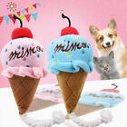 Pet Dog Cat Chew Ice Cream Fetch Lovely Soft Fluffy Sound Puppy Bite Plush Toys