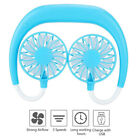 Cool Portle USB Rechargeable Neckband Dual Cooling Fan Lazy Neck Hanging Style