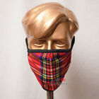 Family Pack of 5 Units Royal Stewart Tartan Mask Breathable Two Layer Washable