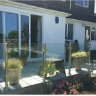 900-1100mm Stainless Steel Balustrade Posts & Toughened 10mm Glass Panel Clamp