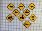 Road Sign Magnet Horse Deer Cow Snowmobile Ufo & Cow Fire Truck Abbey Rd Tractor