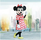 Minnie Mouse Mascot Costume Cosplay Party Dress Outfit Advertising Halloween #C