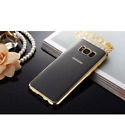 TPU Gel Case Electroplated Chrome Sides & Clear For Samsuing Galaxy note8,note9