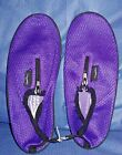 Wave Runner Quick Dry Water Shoes Aqua Socks Barefoot Slip-On with Zipper PURPLE