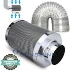Hydroponics 4'' 6'' 8'' Activated Air Carbon Charcoal Filter & HVAC Duct Hose