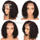 Short Lace Front Human Hair Wigs Pre Plucked With Baby Hair Curly Brazilian