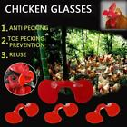 10 Pinless Peepers With Pliers - Chicken Blinders Spectacles Red E9x0