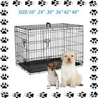 Dog Cage Puppy Pet Crate Small Medium Large XL XXL Folding Metal Secure Cages