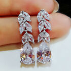 Gorgeous 925 Silver Drop Earrings for Women Jewelry White Sapphire A Pair/set image