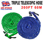 200FT Retractable Magic Stretch Garden Hose Pipe Car wash water gun Blue/Green~~
