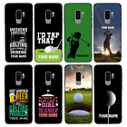 Personalised Golf Name Glass Case Back for Samsung S8 S9 S10 EDGE PLUS
