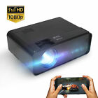 8000 Lumens LED Projector Video 2000:1 HD 1080P Home Theater HDMI USB VGA AV USB