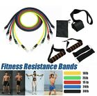 11PCS Yoga Pilates Resistance Band Set Abs Exercise Fitness Tube Workout image