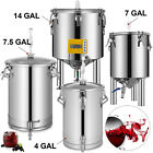 Brew Bucket Fermenter 304 Stainless Steel Conical Fermenter 4,7,7.5,14 Gallon