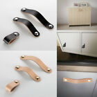 Leather Handle Door Knob Pull For Furniture Cabinet Drawer Suitcase Hardware US
