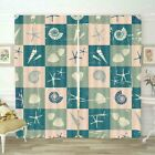 Conch Matching Checkers 3D Curtain Blockout Photo Printing Curtains Drape Fabric