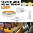 1/2/5M LED Strip Light Wireless PIR Motion Sensor Wardrobe Closet Lamp Ц