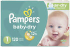 Pampers Baby Dry Diapers Super Pack - (size 1, 2, 3, 4, 5, And 6)