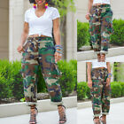 Woman's Cargo Pants Loose Camouflage Casual Pocket Overalls Dungarees Trousers