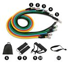 Resistance Band Set 11 Pies Pull Up Stretching Fitness Workout Muscle training  image