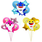 5Pcs Baby Shark Foil Balloons Star Helium Kids Birthday Party Decorations Set UK