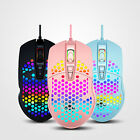 Gaming Mice Mouse 6400 DPI USB RGB Flowing Backlit Light Wired PC Laptop Compute