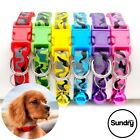 Safety Adjustable Reflective Dog Collar Camouflage Pattern Puppy Nylon FREE BELL