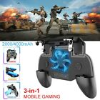 Mobile Phone Game Controller Joystick Cooling Fan Gamepad for PUBG Android IOS#