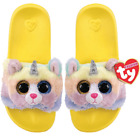 TY Beanie Babies HEATHER the UNICORN CAT Pool Sliders Flip Flop Slides